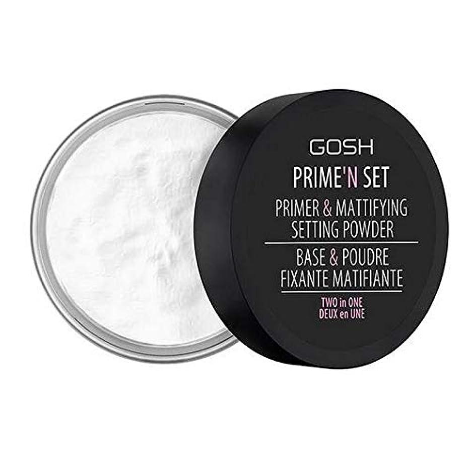 男やもめ定刻枯渇[GOSH ] おやっベルベットのタッチプライマー&設定パウダー - 透明 - GOSH Velvet Touch Primer & Setting Powder - Transparent [並行輸入品]