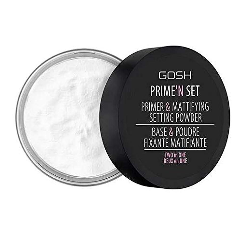 縞模様のカートン考古学[GOSH ] おやっベルベットのタッチプライマー&設定パウダー - 透明 - GOSH Velvet Touch Primer & Setting Powder - Transparent [並行輸入品]