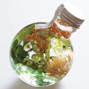 ハーバリウム 丸ボトル (グリーンオレンジ)の関連商品8