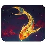 ゲーム用マウスパッド、水泳用長方形のカラフルな魚、マウスパッド、マウスパッド