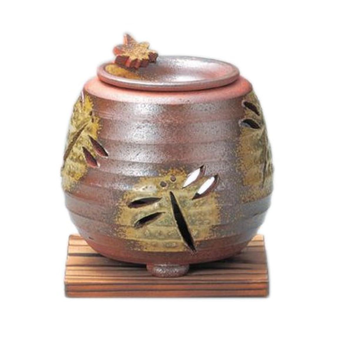 住むサイレン混乱した常滑焼3-830石龍 焼〆千段トンボ茶香炉 AM-T412