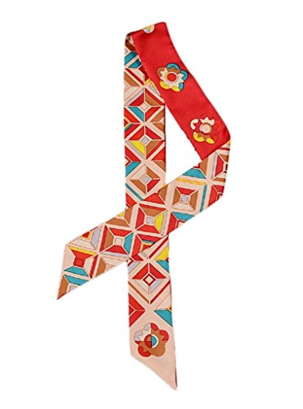 威信回転させるコロニアル(ビグッド)Bigood バッグ用 細スカーフ ツイリースカーフ 長方形 スリムスカーフ リボンスカーフ 巻きつけ アクセサリー 持ち手 小物