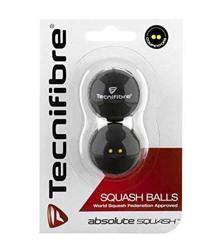 【新商品】【テクニファイバー】【スカッシュボール】【世界スカッシュ連盟公認球】【国内正規品】Tecnifibre(テクニファイバー)ツードット スカッシュボール(2個入り )