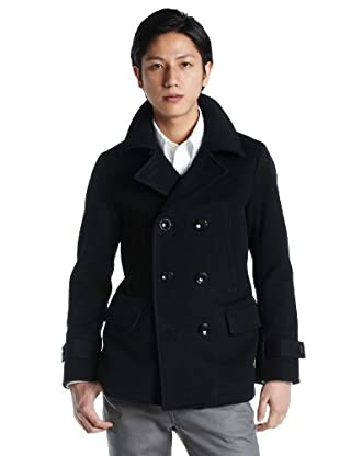 Shaggy Melton Peacoat 1225-139-6015: Navy