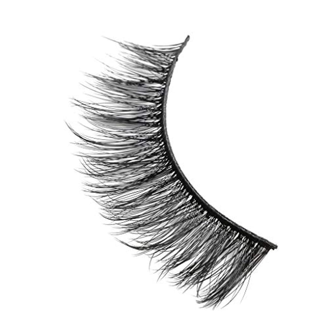 ピンポイントコーナー概念柔らかい長い巻き毛と歪んだ多くの層まつげと3Dミンクの毛皮の10ペア