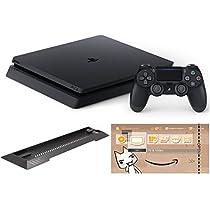 PlayStation 4 ジェット・ブラック 500GB (CUH-2100AB01) 【Amazon.co.jp限定】アンサー PS4用縦置きスタンド 付 & オリジナルカスタムテーマ 配信