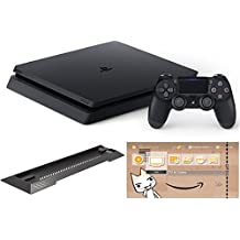 PlayStation 4 ジェット・ブラック 500GB (CUH-2100AB01) 【Amazon.co.jp限定】アンサー PS4用縦置きスタンド & オリジナルカスタムテーマ配信 付