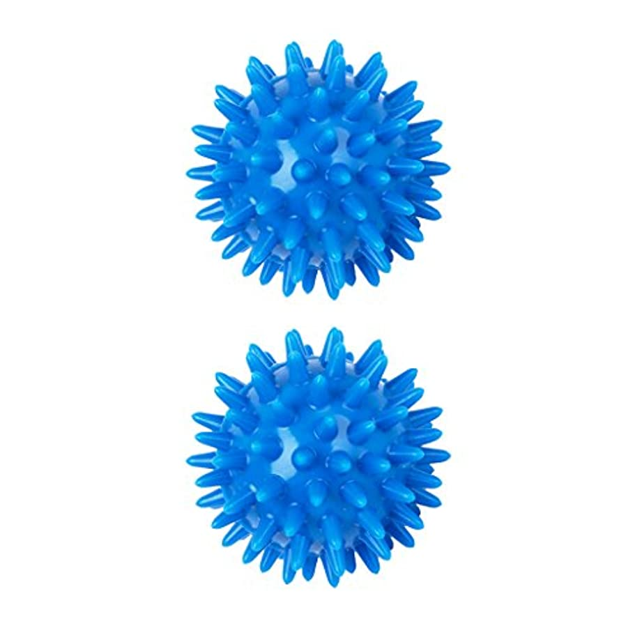 加害者アフリカ人バイソン2個 足 足首 背中 マッサージボール 筋肉緊張和らげ 血液循環促進 5.5cm PVC製 ブルー