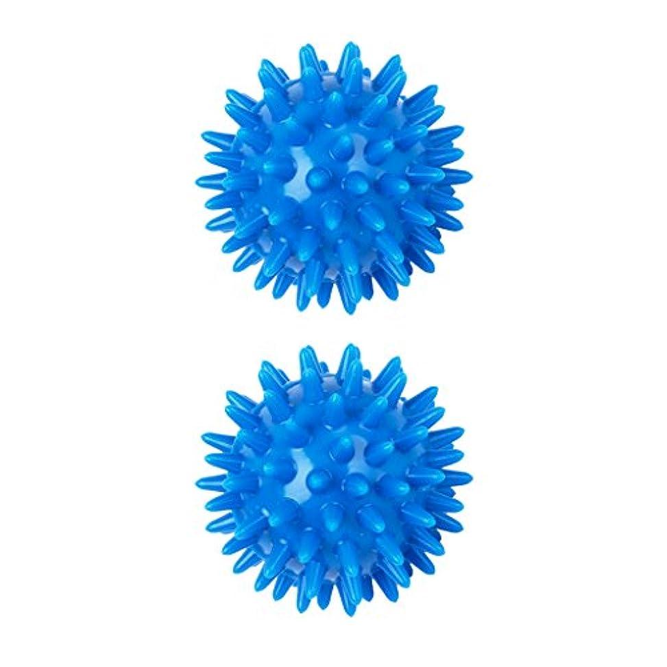 弓見てコントロールsharprepublic 2個 足 足首 背中 マッサージボール 筋肉緊張和らげ 血液循環促進 5.5cm PVC製 ブルー