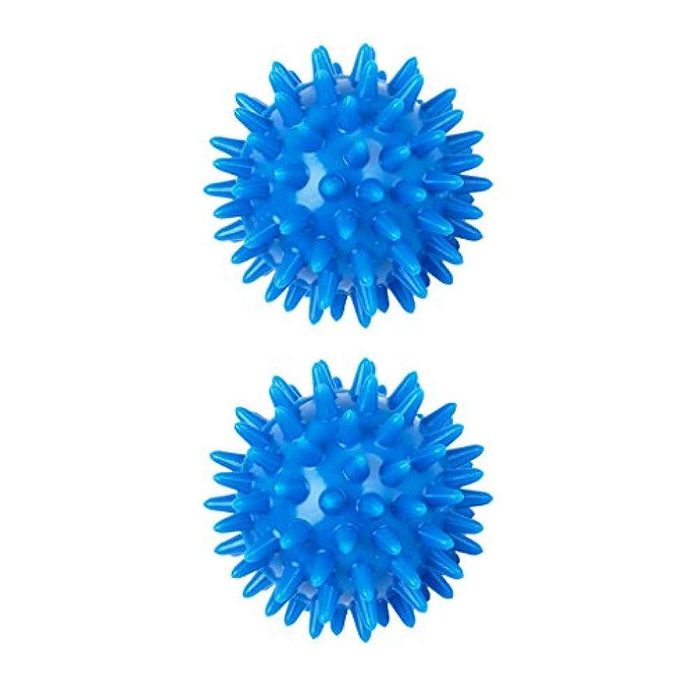 sharprepublic 2個 足 足首 背中 マッサージボール 筋肉緊張和らげ 血液循環促進 5.5cm PVC製 ブルー