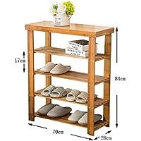 4ティアナチュラル竹木製シンプルシューズラック棚ホルダー収納オーガナイザー廊下のバスルームのリビングルーム(マルチサイズ)のための多機能シェルフ