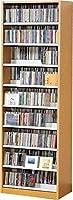 ☆コレクター絶賛☆大容量CDラック/DVDラック ダンデム CD最大1503枚、DVD最大672枚[TCS590N]ナチュラル