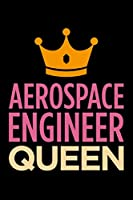 Aerospace engineer queen: Blank lined office humor themed journal and notebook to write in: With a versatile wide rule interior: Pink and orange cover