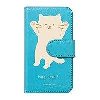 【moimoikka】 AQUOS zero アクオス ゼロ SHARP 手帳型 スマホ ケース hug me ねこ(大) 猫 ネコ アニマル 動物 キャラクター おしゃれ かわいい (カバー色ブルー) ダイアリータイプ 横開き カード収納 フリップ カバー スマートフォン モイモイッカ sslink