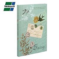 ナカバヤシ ブック式フリーアルバム クラシック(黒台紙) 100年台紙 A4サイズ ブルー アH-A4B-170-B