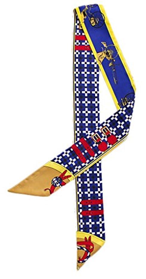 タイピスト確かなうがい薬(ビグッド)Bigood ツイリー スカーフ バッグ 鞄 アクセサリー カバン レディース ハンドル 細長 リボン スカーフ 持ち手 小物 プリント おしゃれ イエロー