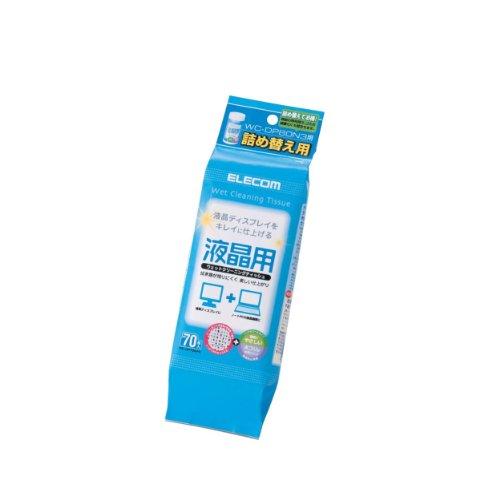 エレコム 液晶用ウェットクリーニングティッシュ WC-DP80N3詰め替え用 70枚入 WC-DP70SP3