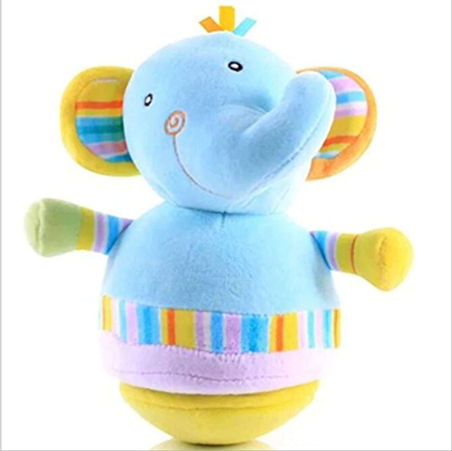 wanrane Cute Kids Roly - Poly Toy Adorable象カラフルなソフト手Rattlesクロール子供用ベルボールおもちゃギフト(象)