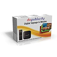 doPublicity Digital Signage Player Software with over 1000 Templates for displaying Restaurant Menu Boards Advertising Corporate Messaging Product Promotion and Live Weather on HD and 4K TV [並行輸入品]