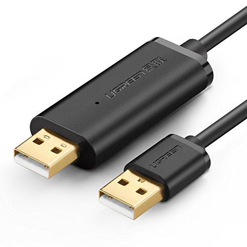 UGREEN リンクケーブル USB 2.0 データケーブル ドラッグ ドロップ対応 データ共有 Windows10 Windows8 Windows7 Mac OS 10.5~X 対応 2m ブラック
