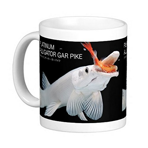 プラチナアリゲーターガーのマグカップ:フォトマグ*(世界の熱帯魚シリーズ)