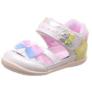 [キャロット] サマーシューズ ベビー 靴 マジック 足に優しい 足育 ゆったり CR B103 ホワイト 13 cm 2E