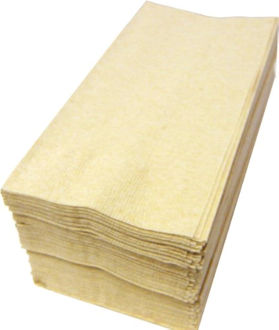 くびれたくしゃくしゃ快適【10パックまとめ買い】カラー8折2プライペーパーナプキン「ナチュラルカラー未晒」(500枚)