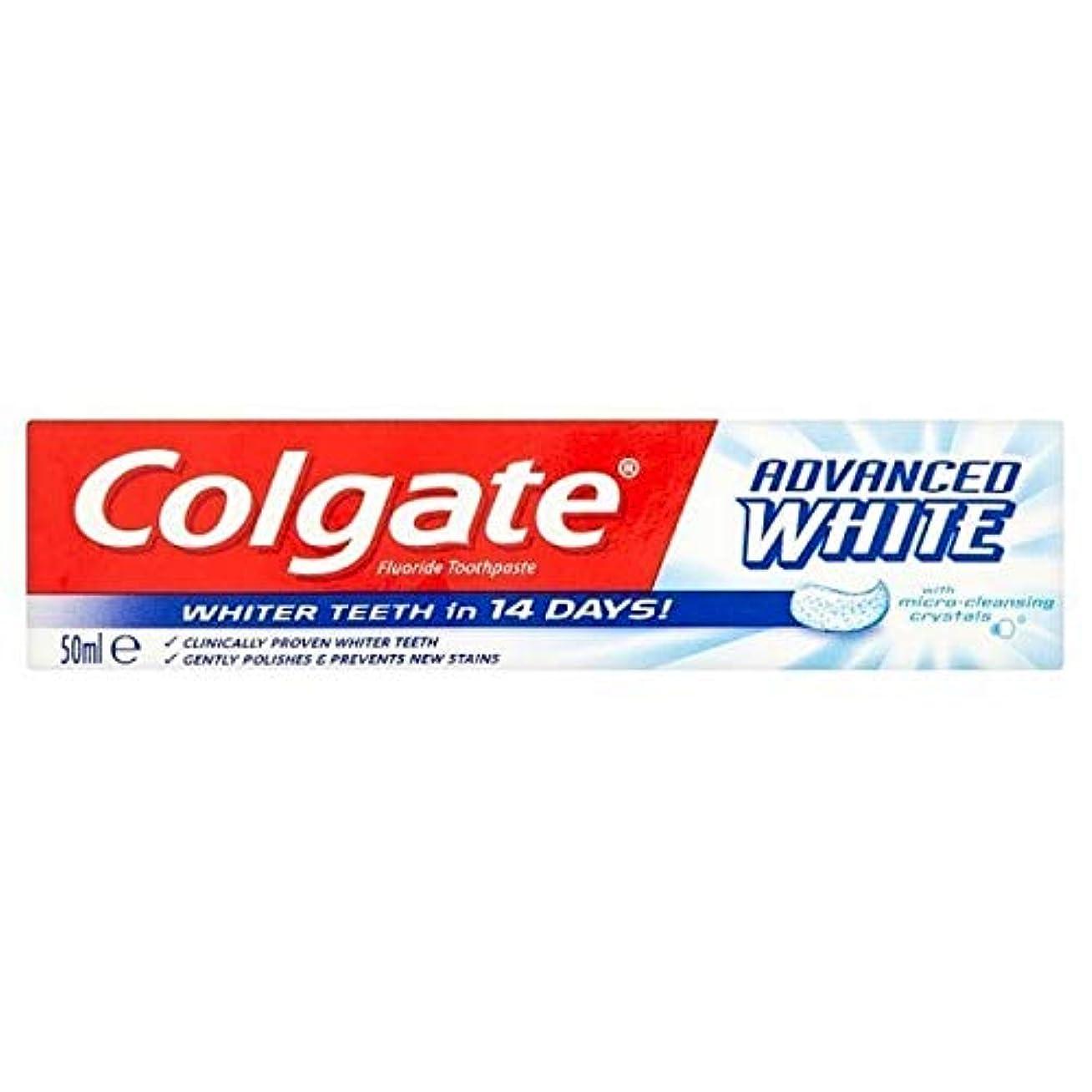 また耐久鳴り響く[Colgate ] コルゲートは白ホワイトニング歯磨き粉50ミリリットルを進めました - Colgate Advanced White Whitening Toothpaste 50ml [並行輸入品]