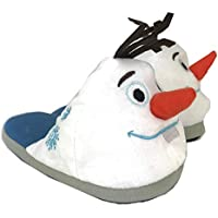 Disney Frozen 2 Plush Slippers Kids (Large, Olaf White)