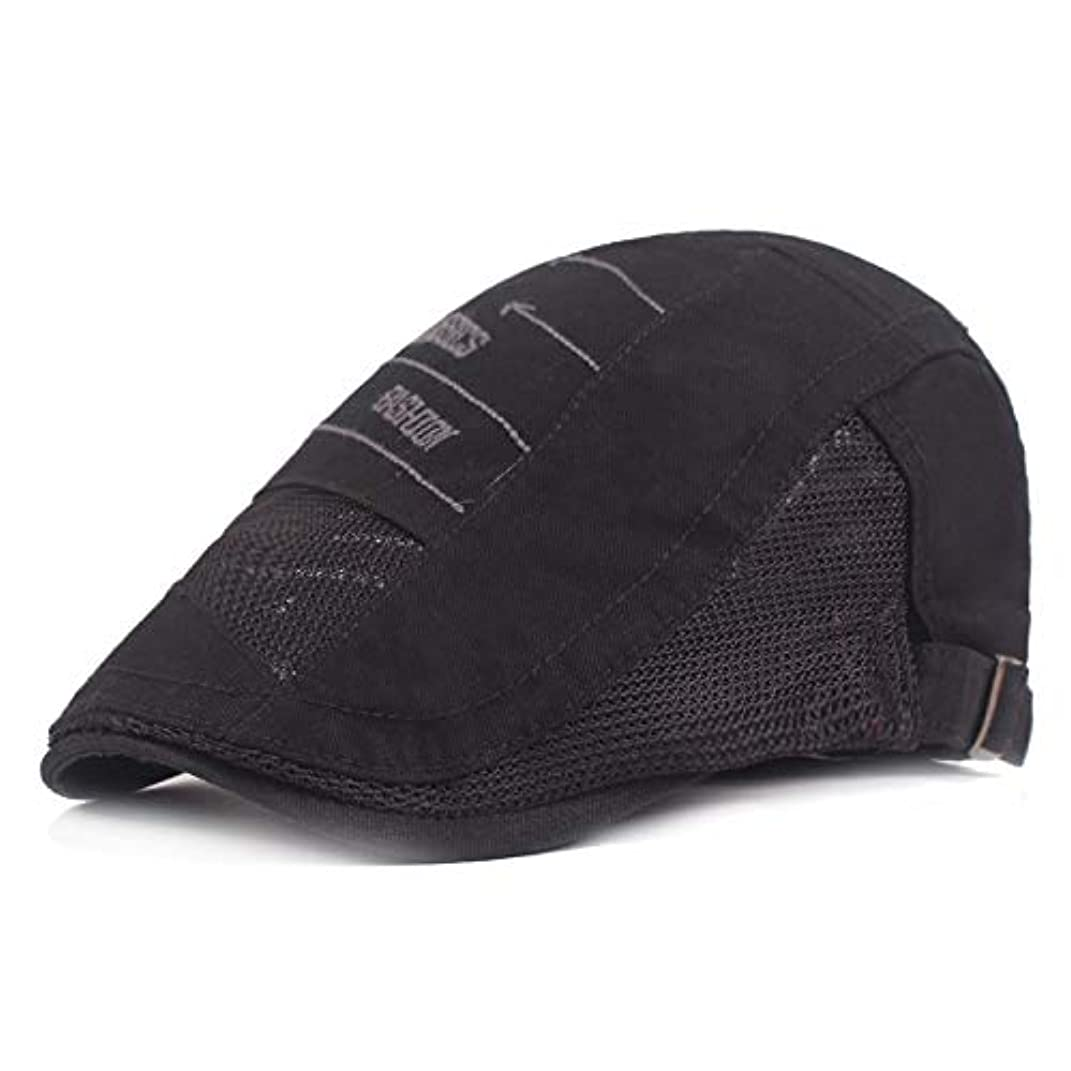 サマー ベレー帽 メッシュ キャスケットハンチング帽 メンズ レディース ハット トレッキング日よけ 帽子