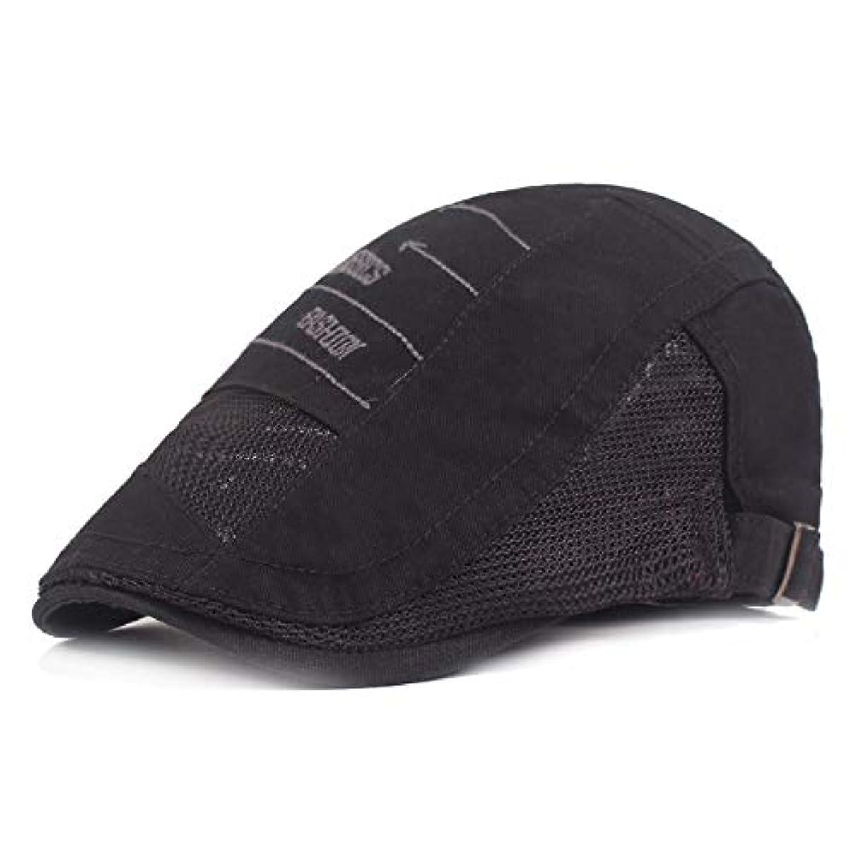 だらしないハードただサマー ベレー帽 メッシュ キャスケットハンチング帽 メンズ レディース ハット トレッキング日よけ 帽子