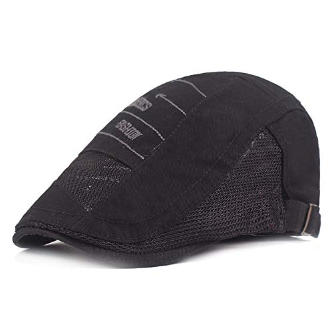 認識ガイダンスまっすぐサマー ベレー帽 メッシュ キャスケットハンチング帽 メンズ レディース ハット トレッキング日よけ 帽子