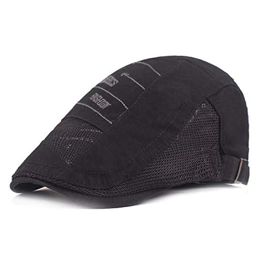 透過性はしご事務所サマー ベレー帽 メッシュ キャスケットハンチング帽 メンズ レディース ハット トレッキング日よけ 帽子