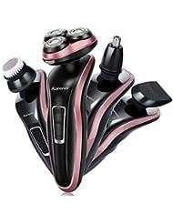 ひげそり 電動 メンズシェーバー,回転式 髭剃り 電気シェーバー 充電式 コンパクト 多機能 電気シェーバー 1台4役 人気男性プレゼント