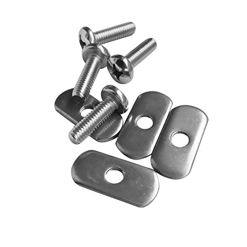 より良いデッドロック定規CUTICATE カヤック レール用 ネジ スクリュー ナット ステンレス 交換用 オーバル 実用的 8点セット