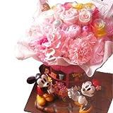 ディズニー フラワーギフト ミッキー ミニー フラワーショップ レインボーローズ3 ピンク3 ケース付き