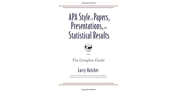 amazon apa style for papers presentations and statistical
