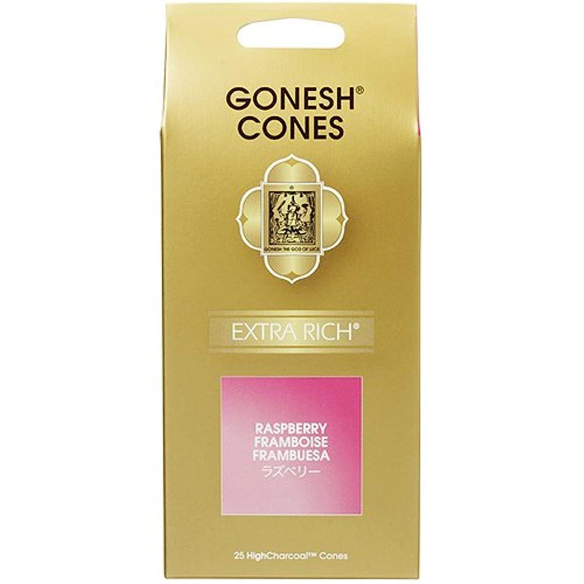 ごみ質素な水星ガーネッシュ(GONESH) エクストラリッチ インセンス コーン ラズベリー 25ヶ入