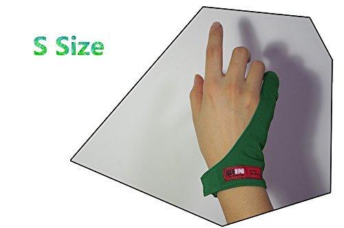LaughingPaw ペンタブレットと液晶ペンタブレット用防汚グローブ (グリーン手袋 Sサイズ)