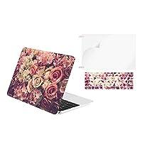 """TOP CASE - 3イン1 グラフィック ゴム引きハードケース + キーボードカバー + スクリーンプロテクター MacBook Pro 13インチ(2018 & 2017 & 2016年発売) 対応 MacBook Pro 13"""" (NO Touch Bar 2016/2017)"""