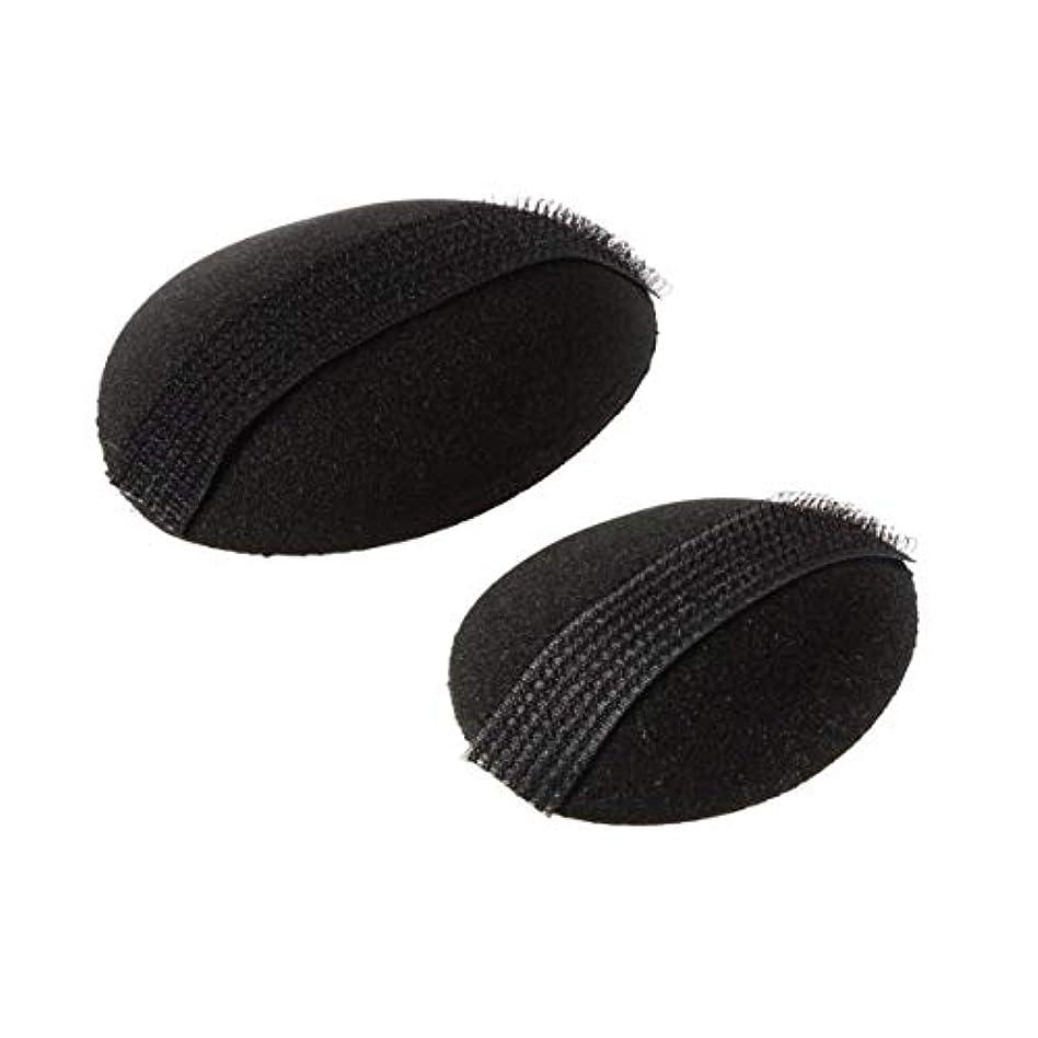 成功補充メキシコIntercorey 2ピース女性美容ボリュームヘアベースバンプスタイリングインサートパッドツールスポンジヘアメーカーパッドスタイリングヘアベースバンプ黒