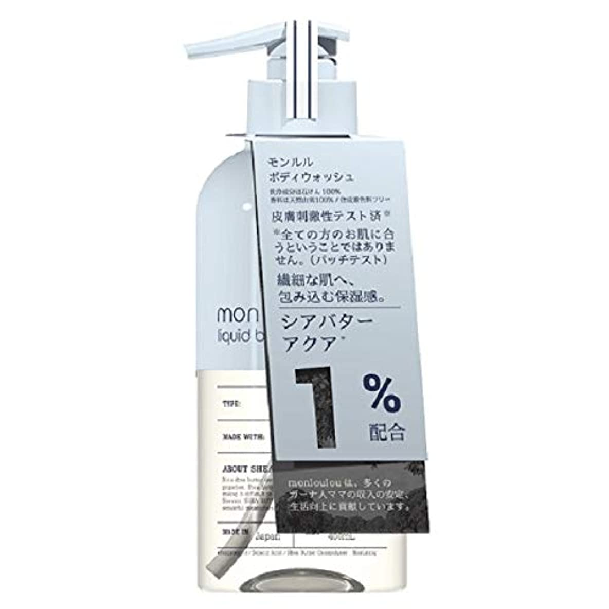 順応性のある番目なくなるモンルル1% ボディウォッシュ 400mL