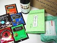 辻本珈琲 本格ドリップコーヒー5種70杯分とカフェ・オ・レ ベース+抹茶菓子2品が入った辻本珈琲プレミアムギフトBOX