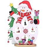 JAGENIE Christmas Wooden Tree Santa Claus Snowman Table Decoration Ornament Home Desktop