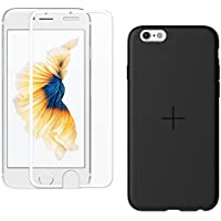araree iPhone 6S Case+Glass Screen Protector Core Plus Pack Slim TPU Case [Airfit] and Protector Tempered Glass [Core fully Cover] with Perfect Slim Fit for iPhone 6 case (2015) (WHITE) [並行輸入品]