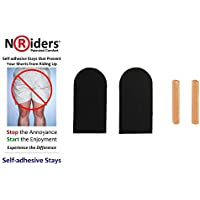 NoRiders 2-inch Self-adhesive Stays with Patches [6-Pack]