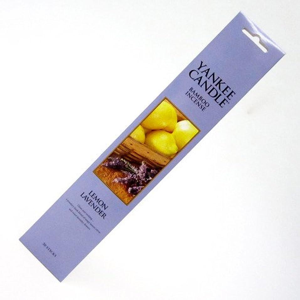 発言する味付け尾YANKEE CANDLE バンブーインセンス レモンラベンダー