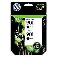 HP 901 Black Ink Cartridge, Twin Pack (CZ075FN) [並行輸入品]