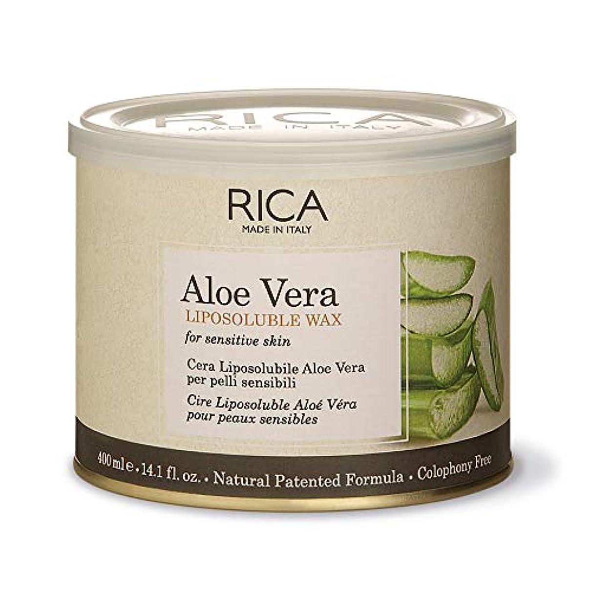 回復する獲物気味の悪いブラジリアンワックス RICA アロエベラ リポソルブル ワックス (400ml)
