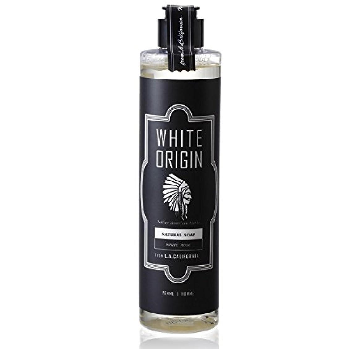 助言する浅い月WHITE ORIGIN ボディソープ 300ml 加齢臭 ケア オーガニック ナチュラル 男前 乾燥 ホワイトローズ